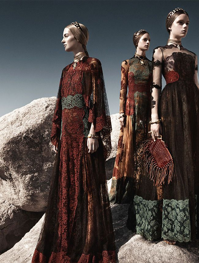 Malaika Firth, Ine Neefs by Craig McDean for Valentino S/S 2014 / High Fashion / Ethnic & Oriental / Carpet & Kilim & Tiles & Prints & Embroidery Inspiration /