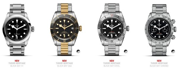 Tudor introduces 4 new Heritage models to their collection