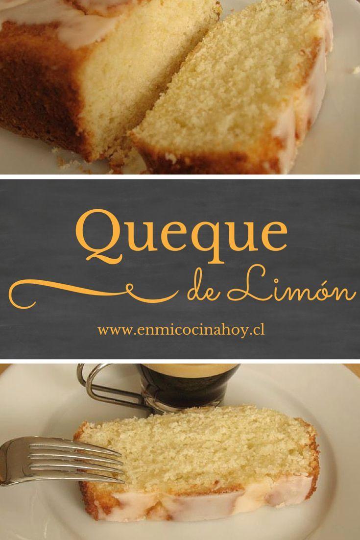 El queque de limón es muy popular en Chile, delicioso para la once o para mandar de colación al colegio.