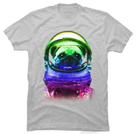 This Space Pug by Revoltz T-shirt is available in sizes S to 5XL and can be printed on fifteen different colors. This design comes as a singlet, short & long sleeved Tshirt, hoodie, phone case and art print! http://shrsl.com/?~c432