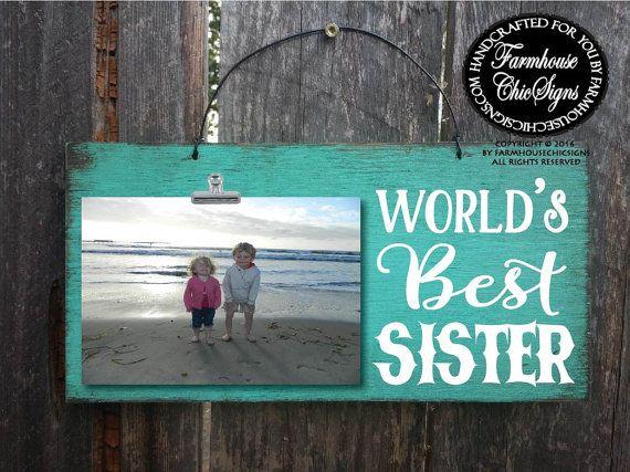 gift for sister, sister gift, sister, world's best sister, sister picture frame, Christmas gift sister, birthday gift sister, best sister