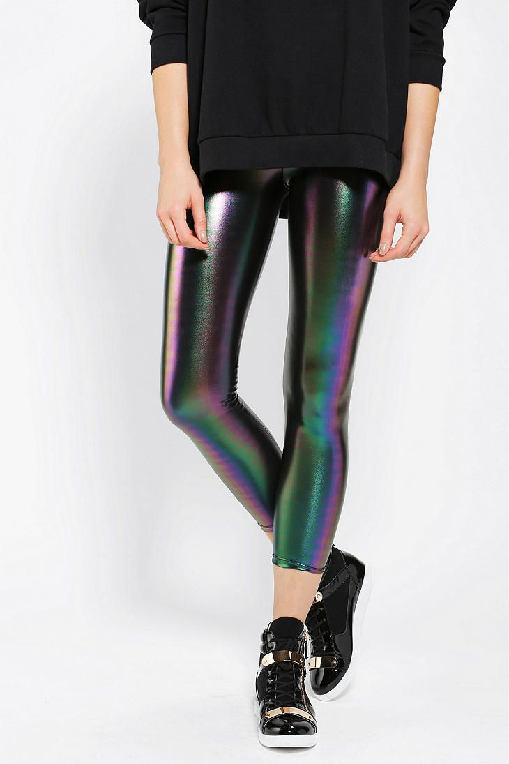 SO MUCH YES. Sparkle & Fade Rainbow Oil Slick Legging