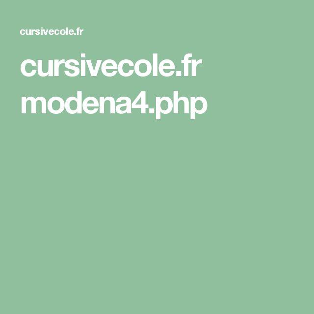 cursivecole.fr modena4.php