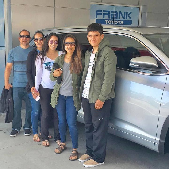 Looks like one big happy family for Heidi with their brand new Frank Toyota van. Congratulations and thanks for choosing to shop on The Mile of Cars.