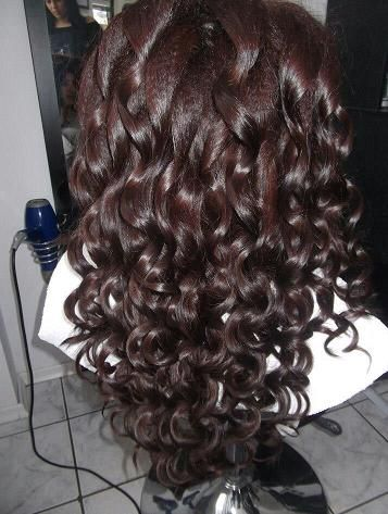 thick curls