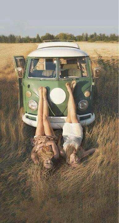 ☮ American Hippie Bohéme Boho Style ☮ VW Wanderlust with Friend .. Wanderlust road trip