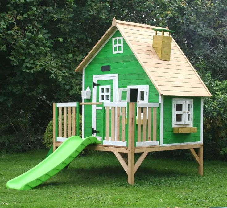 The Whacky Penthouse Wooden Playhouse is one of our most popular children's playhouse's, designed to look modern and fit in anyone's garden. With great features such as a slide, working windows and doors, stairs and loads of storage space.