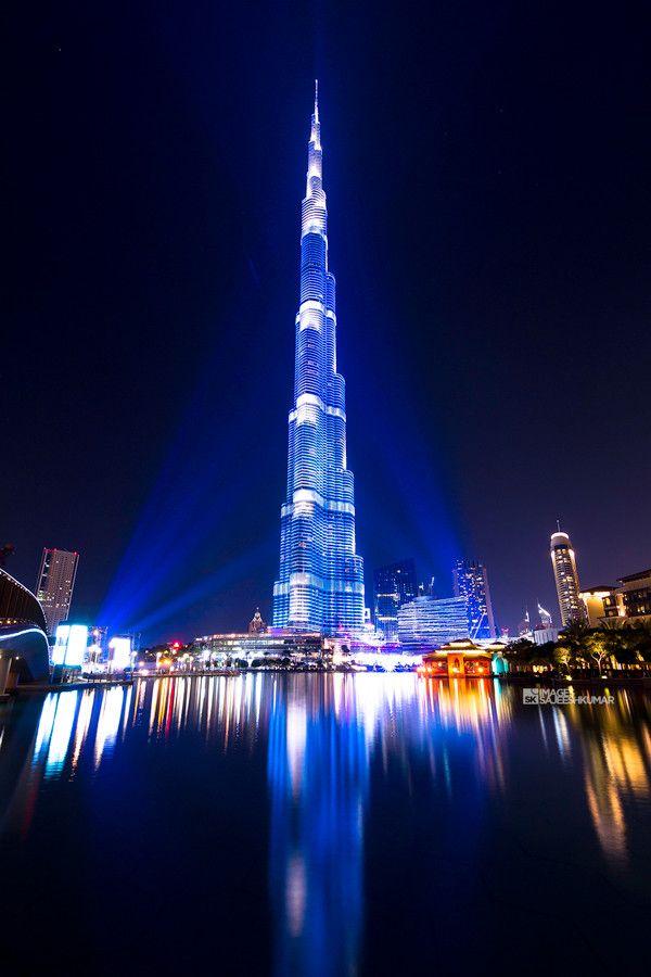 Bleed Blue - Burj Khalifa on #500px #dubai #burjkhalifa # ...