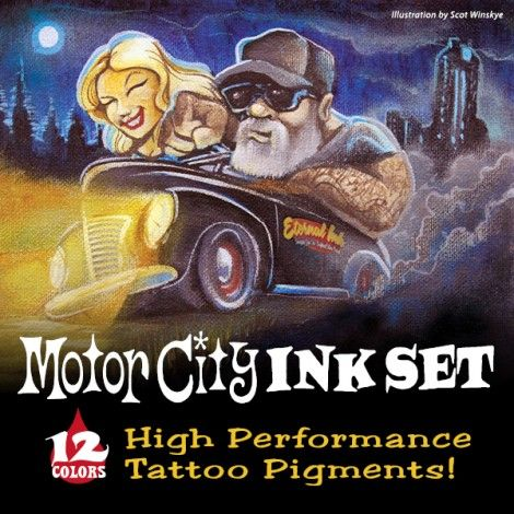 Eternal Ink Motor City Set 12 x 30 ML Order/Bestel---> http://www.levgroothandel.nl/Eternal%20Ink%20Motor%20City%20Set%2012%20x%2030%20ML #levtattoo #levgroothandel #supportgoodtattooartists #pmules #tattoo #piercing #tattoosupply #tatoeage #tattoomachine #tattooink #tattooartist
