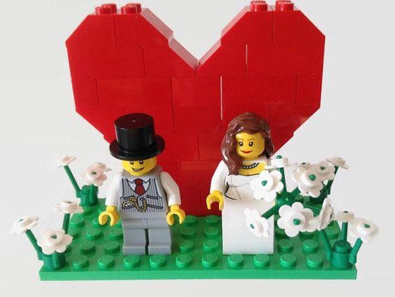 Lego Wedding Cake Topper Customised' Bride And by HeartOfBricks