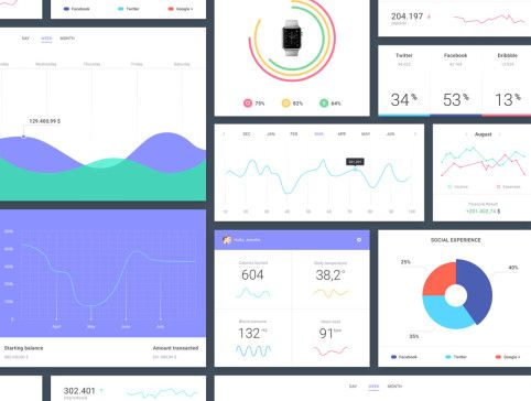 Epic UI Kit is a large, fresh and vibrant ui kit made up of 118 web elements. Divided into 9 categories (articles, e-commerce, forms, headers, media, navigation, profiles, statistics and widgets), it allows you to build awesome, clean and modern apps and