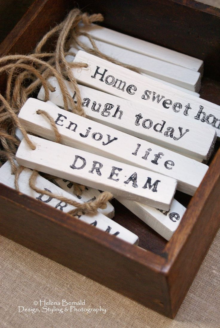 The Swenglish Home: Christmas  handmade word ornaments, ooo I like this idea. Wouldn't this be a great gift for the person just starting out in their own home?