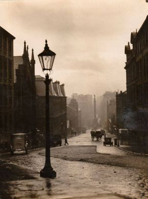 Taken from the top of North Hanover Street, we are looking down to George Square.