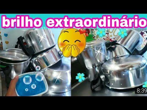 PASTA CASEIRA DE BRILHO INTENSO|ALUMÍNIO E INOX|CASA LIMPA por CASA LIMPA - YouTube