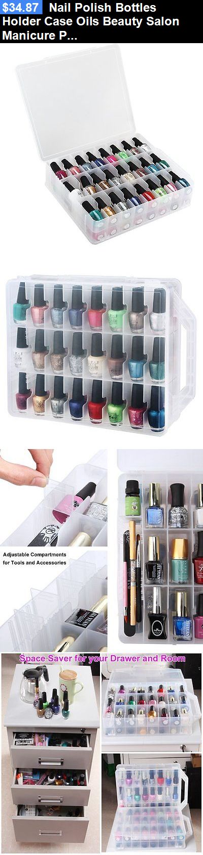 Storage and Empty Containers: Nail Polish Bottles Holder Case Oils Beauty Salon Manicure Pedicure Fingernails BUY IT NOW ONLY: $34.87