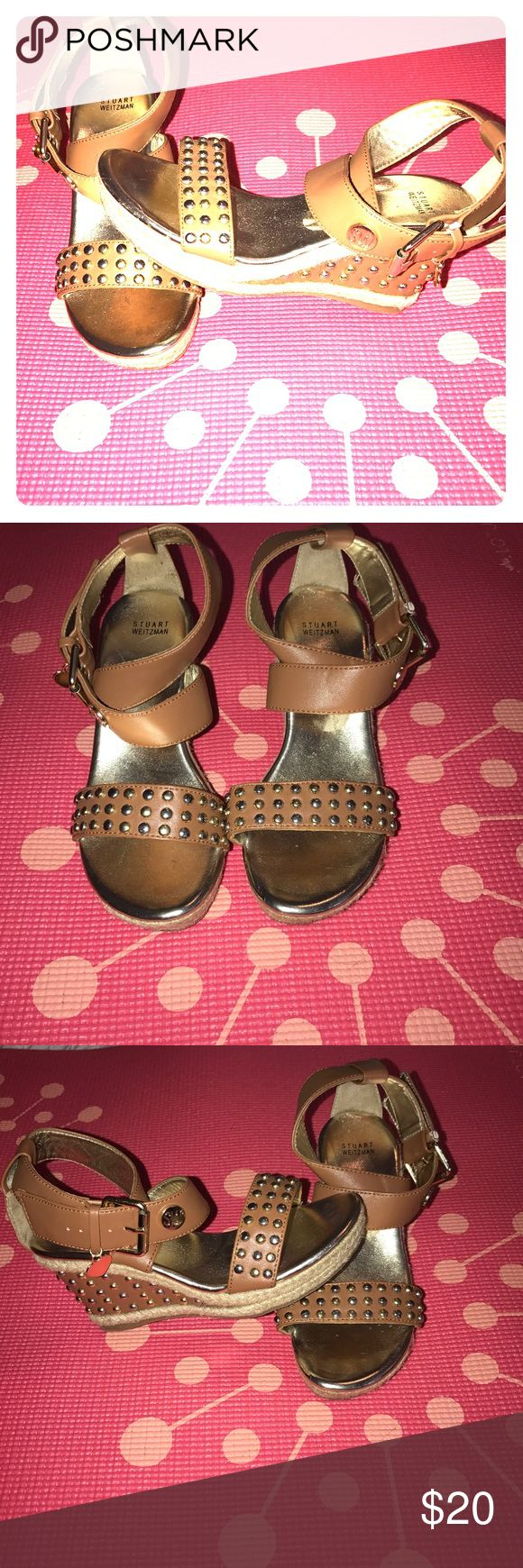 Stuart Weitzman little girls shoes Size 1 Stuart Weitzman heeled sandals little girls  size 1. Gorgeous with dresses, shorts, capris.  For the little diva out there, she will love her new pear of high heeled shoes. Stuart Weitzman Shoes