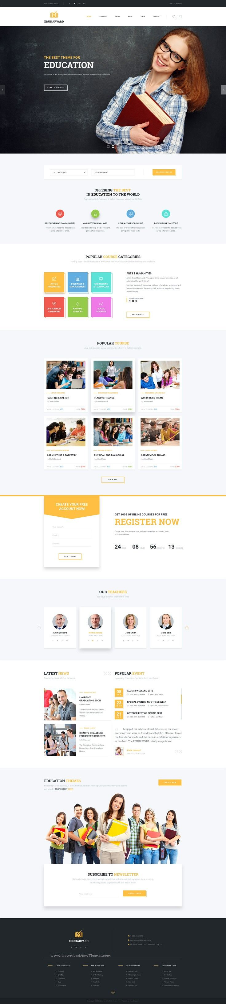 Eduharvard is a Modern, Creative, Responsive & Multipurpose #PSDTemplate Design suitable for #Educational Institutions like Universities and Colleges, Online #Courses / Online Learning and Events.