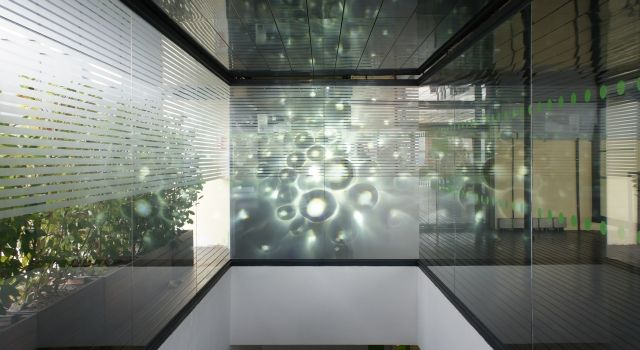 X24 Projected Onto Textured Glass