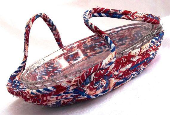 Patriotic Pie Basket Handmade American Pie by WexfordTreasures