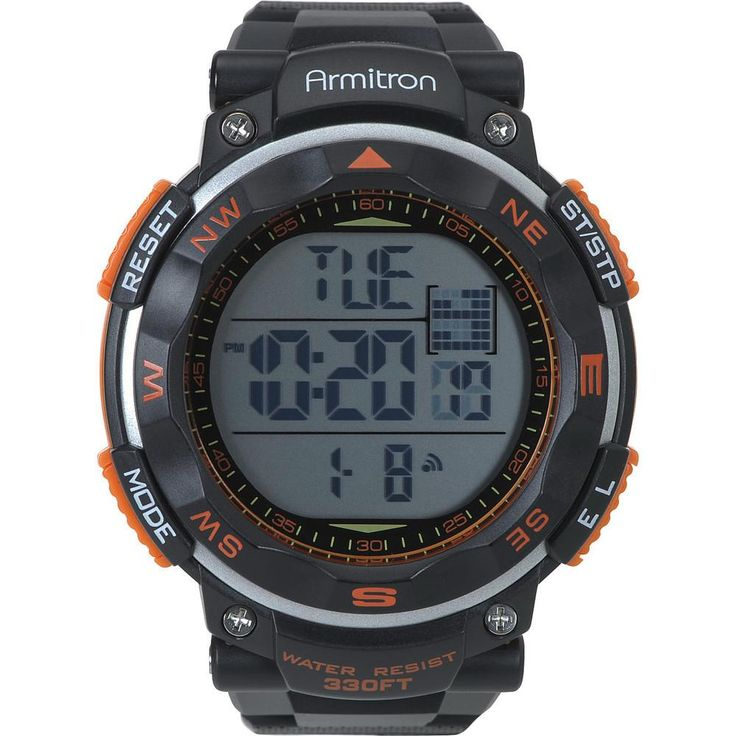 The sporty look you want is combined with the functionality you need in this ARMITRON chronograph watch for men. It's water resistant up to 330 feet and comes equipped with an... More Details