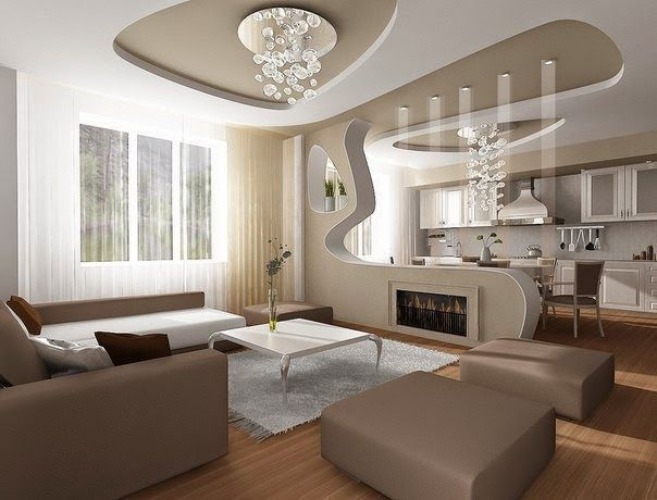 Attractive Modern Pop False Ceiling Designs For Living Room 2015