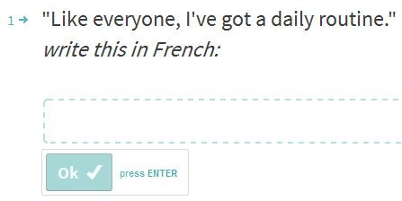 French writing exercises - https://www.lawlessfrench.com/writing/writing-exercises/