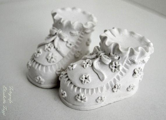 Gessetti profumati segnaposto bomboniera scarpette bebè