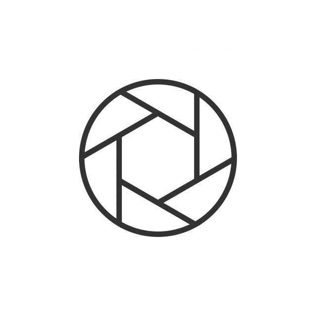 Logo Symbol Graphic Label Template Icon Flat Silhouette Simple Camera Digital Photography Aperture Sign Icone Da Camera Camera Logo Camera Fotografica Desenho
