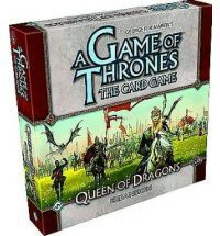 A queen now enters the War of Five Kings! House Targaryen, a family in exile in the mysterious East, is gathering a ragtag army of barbarians, mercenaries, refugees, and former slaves under the banner of the threeheaded dragon to take Westeros by fire and blood. The lost heir to the Iron Throne, Daenerys Targaryen is coming to claim her birthright... Queen of Dragons is the fifth deluxe expansion for A Game of Thrones: The Card Game. This expansion adds 165 new cards - three copies each of…