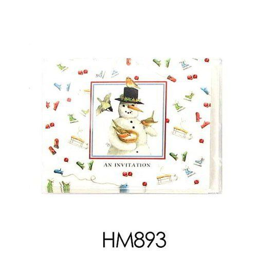 96 Snowman Marjolein Bastin invitations; pack of 10 by FindingKing. $112.99. This is a new set of 24 snowman 10 pack invitations/envelopes