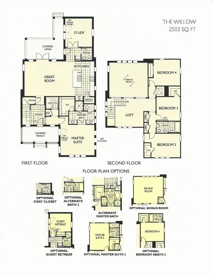 Oakland Park Willow Floor Plan In Winter Garden FL