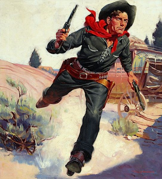 illustration for Wild West Weekly / R.G. Harris
