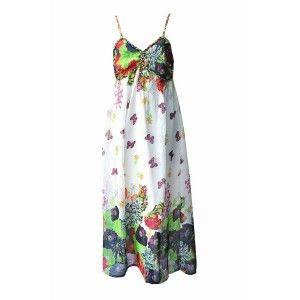 Chiffon Maxi Dress Butterfly