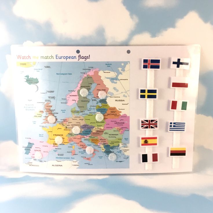 European flags and map, KS2, Matching game, geography, year 3, Visual learner, removable pieces, velcro matching, homework resource by TheCleverCrocodile on Etsy https://www.etsy.com/uk/listing/542652816/european-flags-and-map-ks2-matching-game