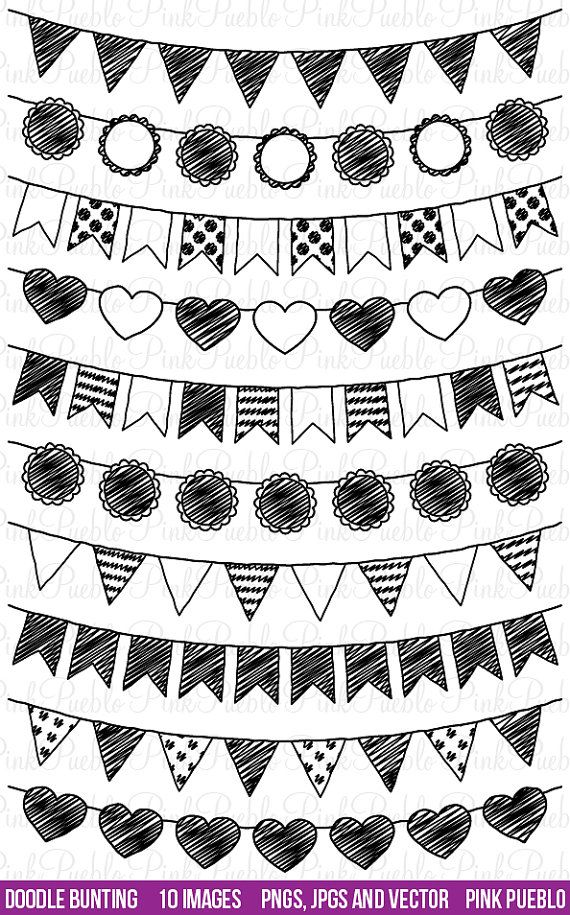 Hey, I found this really awesome Etsy listing at https://www.etsy.com/listing/124427081/doodle-bunting-clipart-clip-art-doodle