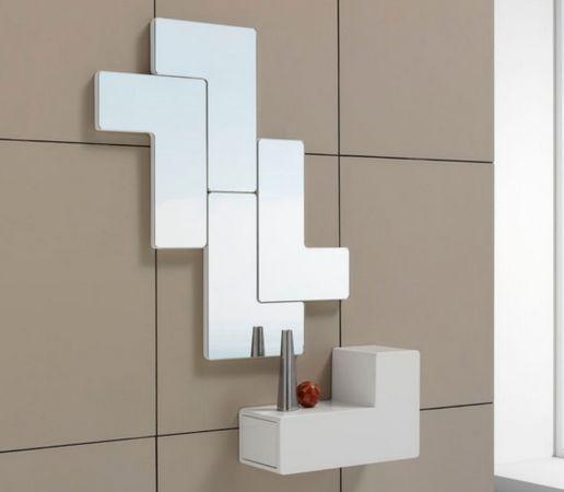 Espejos de diseño moderno TETRIS Vertical. Espejos y consolas de madera. www.decoracionbeltran.com