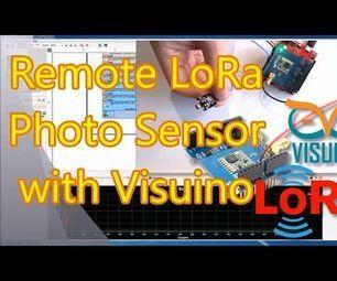 Arduino and Visuino: Long Distance Remote Light Sensor With RFM95W/RFM98W Makerfabs LoRa Shields #Arduino #Visuino