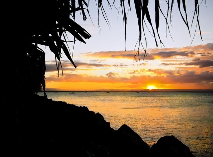sunset at scarborough, australia