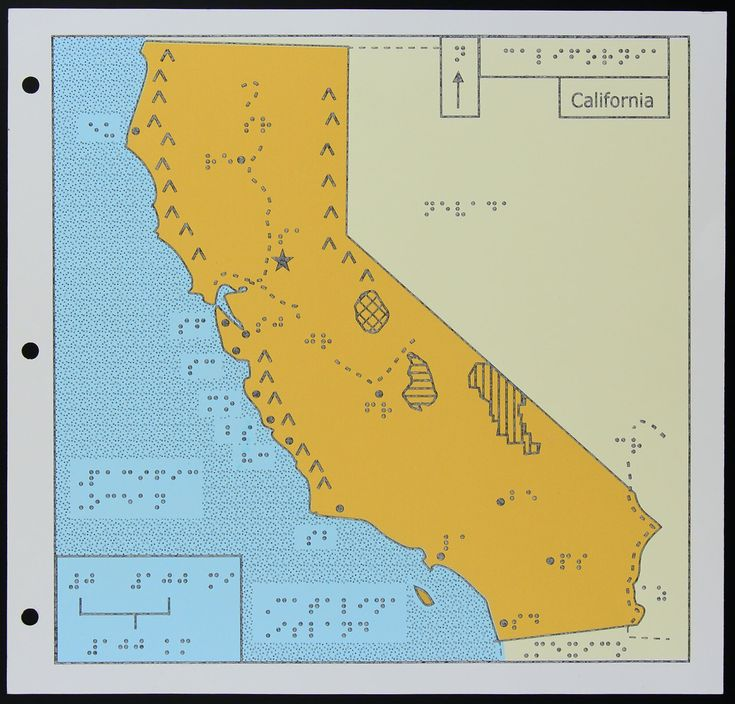 Braille Map of California