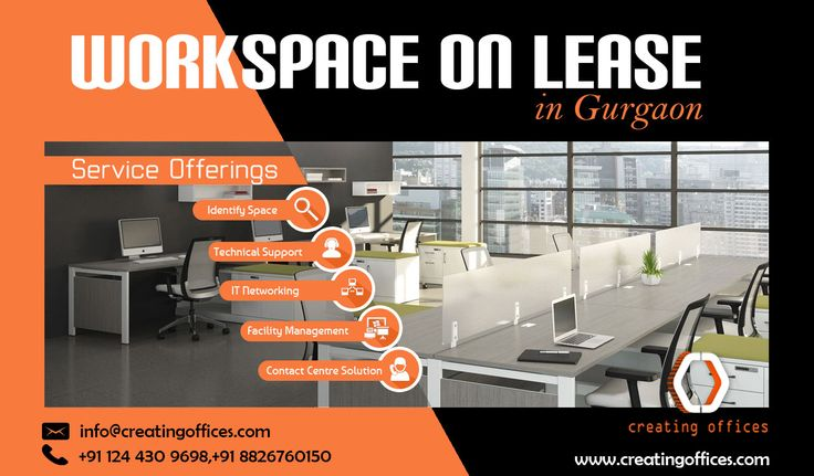 Workspace On Lease: Eliminate administration overheads and initial setup hassles with managed and fully-furnished workspace on lease offered by #CreatingOffices. Contact +91 8826760150 for more details.!!  #OfficeSpace  #WorkPlaceonLease  #WorkSpace #Gurgaon