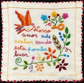 Portuguese embroidery traditional design. (lenço dos namorados)