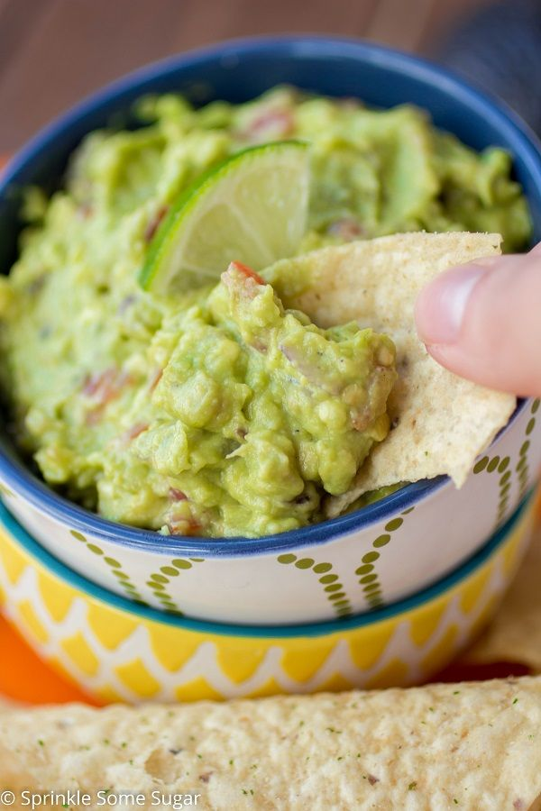 This super Easy Guacamole For Two is the perfect recipe for a crazy delicious guacamole made in a small batch.