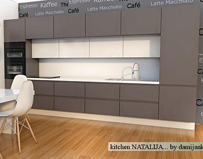 "Check out new work on my @Behance portfolio: ""modern gray kitchen"" http://be.net/gallery/32783389/modern-gray-kitchen"