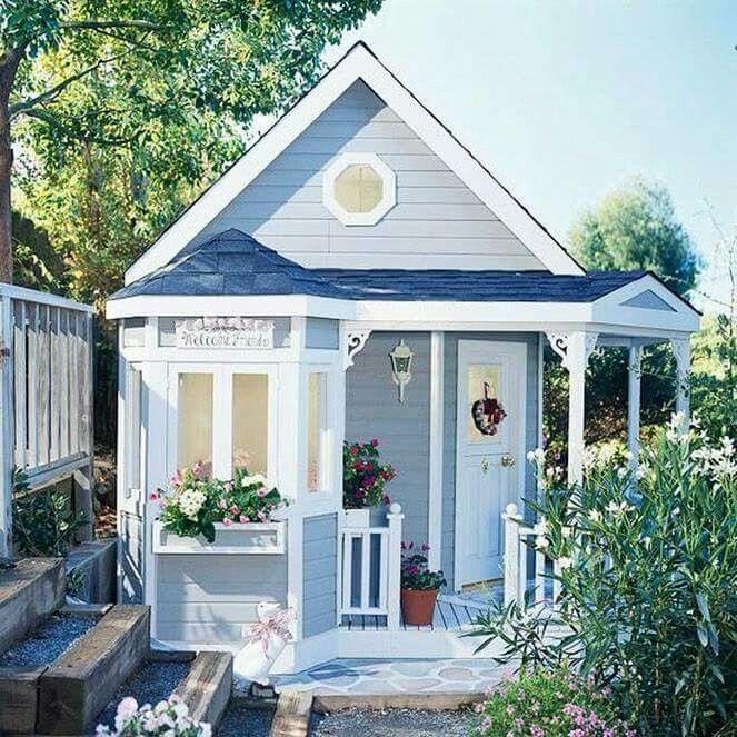 Pretty little blue cottage