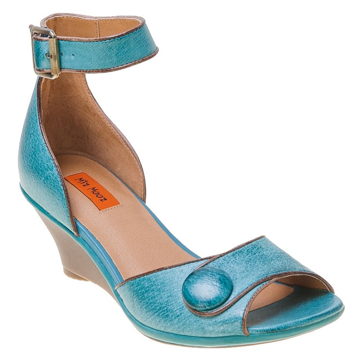 Womens Wedge Shoes Teal Blue Green Straps