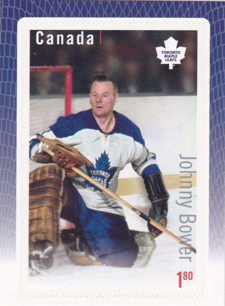 Canada Stamp Johnny Bower Toronto Maple Leafs,Hockey Great Canadian Goalies