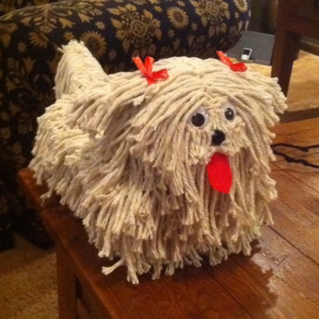 DIY shaggy dog Valentine's box - cute!
