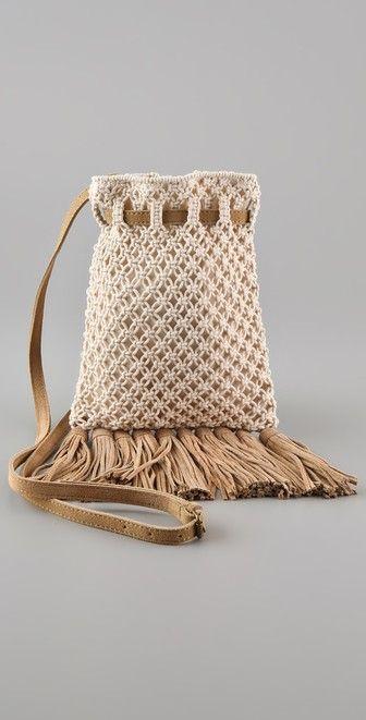 Club Monaco Kristin Crochet Cross Body Bag - No Pattern