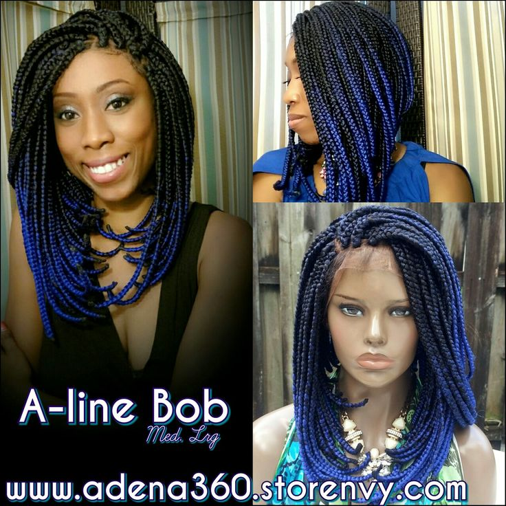 A Line Custom Ordered Ombre Blue Bob Www Adena360 Nvy