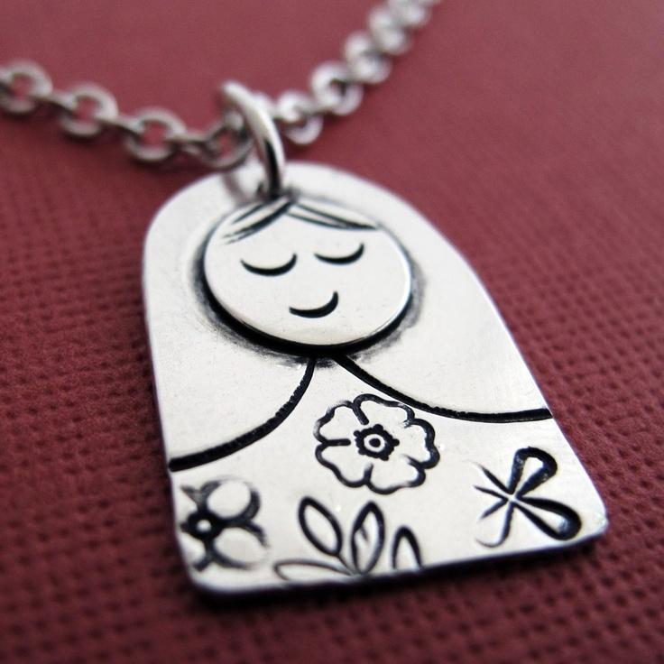 Matryoshka Russian Doll Necklace